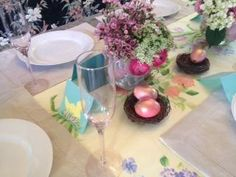 Easter Table Setting Ideas from How2Girl