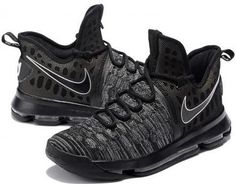 factory price cfcf6 24dbd Nike Zoom KD9 Mens Basketball Shoes - Black Grey3 Winter Outfits For  School, School