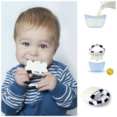kidsme's Icy Moo Moo Teether is perfect for comforting sore gums. The dual-function silicone teether can also make ice lollies for baby. Simply fill the cap with a favorite milk or juice, place the soother into the lid, and freeze. Premiere Dent, Simply Filling, Cow Print, Baby Boutique, Baby Essentials, Baby Items, Little Ones, Baby Kids, Children