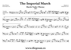 tubescore: Sheet Music for The Imperial March for Flute. Star Wars music scores by John Williams. The Imperial March Flute Music Score Trombone Sheet Music, Alto Sax Sheet Music, Viola Sheet Music, Trumpet Sheet Music, Saxophone Music, Piano Sheet Music, Tenor Sax, Music Sheets, Partitions Trombone