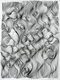 """Saatchi Online Artist Ken Resen; Drawing, """"Turbulence"""" #art"""