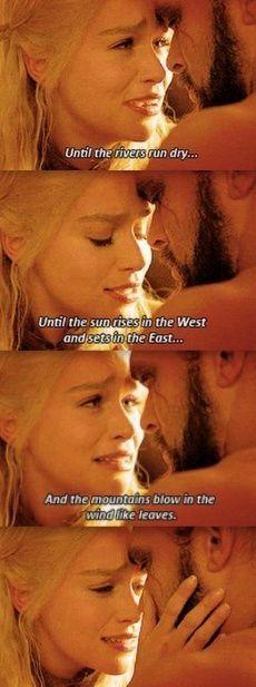 GoT Dany and Khal Drogo