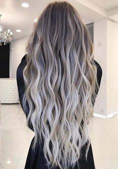 There are various types of balayage hair colors for women to sport for different special functions and celebration. Here you may see and collect best ideas of balayage hair color trends for long waves hair to get most amazing and cute hairs. #FashionTrendsHair