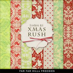 Far Far Hill - Free database of digital illustrations and papers: Freebies Kit of Backgrounds - XMas Rush Free Digital Scrapbooking, Digital Scrapbook Paper, Digital Paper Freebie, Printable Scrapbook Paper, Printable Paper, Free Printable, Scrapbooking Ideas, Kit Digital, Christmas Paper
