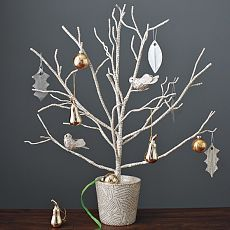 white tree branches love