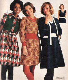 Pages of Polyester: The Sears 1974 Catalog - Flashbak 1974 Fashion, 60s And 70s Fashion, Seventies Fashion, Retro Fashion, Womens Fashion, Vintage Fashion, Fashion Fashion, Decades Fashion, Diana Fashion