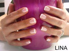 Shellac french manicure..natural yet beautiful! Wedding nail vision...