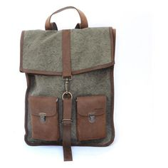 Kjøre Project leather/canvas Survey Backpack (€230) ❤ liked on Polyvore