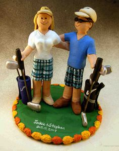 Golfing Wedding Cake Topper Golf Cakes & Party & Gum Paste Fiqurines for Cakes (This is an affiliate link) You can get extra information at the photo web link. Golf Cake Toppers, Bride And Groom Cake Toppers, Personalized Wedding Cake Toppers, Cupcake Toppers, Golf Grooms Cake, Golf Cakes, Golf Wedding, Funny Wedding Cakes, Wedding Keepsakes