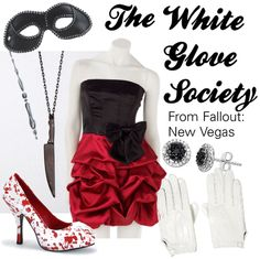 Fallout new vegas white society dress