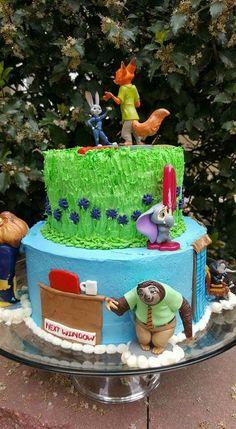 Zootopia birthday cake: