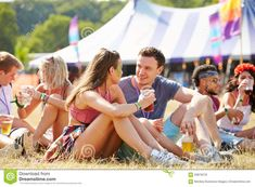 Friends Sitting On The Grass Talking At Music Festival Stock Photo - Image of couple, culture: 59879218 Dating Chat, Dating Memes, Dating Advice, Festival Friends, Stock Photo Girl, 7 Places, Best Dating Apps, Divorce Humor, Relationship Facts