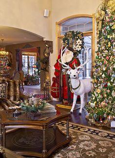 Christmas Decor mediterranean living room