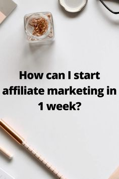 How can I start affiliate marketing in 1 week? Make Money Blogging, Way To Make Money, Make Money Online, Affiliate Marketing, Online Marketing, Business Tips, Online Business, Thing 1, Pin Pin
