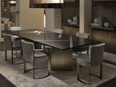 Fendi Casa, FF CASA Margutta dining table and Ripetta chairs