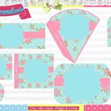 Kit Festa Floral no Elo7 | Marla Personalizados (2BC225) Shabby Chic, Floral, Frame, Home Decor, Water Art, Mint To Be, Party Kit, Historia, Picture Frame