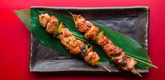 Lots of delicious things stacked up on a skewer. An easy-to-make umami-packed sauce and some searing heat. That's all you need to master the art of yakitori and here's the recipe you need from Tadashi Ono and Harris Salat.