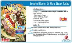 Loaded Bacon & Bleu Steak Salad