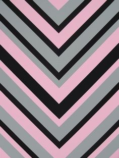 Pink Black and Grey Chevron Pattern Design Modern by shauno, $100.00