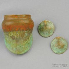 Oxidized Brass Bracelet and Earrings, Robert Lee Morris