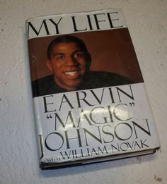 Magic Johnson My Life Hardback Book Los Angeles Lakers LA NBA