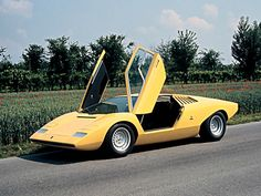 1971 Lamborghini Countach LP500 Prototype (Bertone) Aston Martin Db5, Supercars, Automobile, 70s Cars, Yellow Car, Lamborghini Cars, Rear Wheel Drive, Grimm, Concept Cars