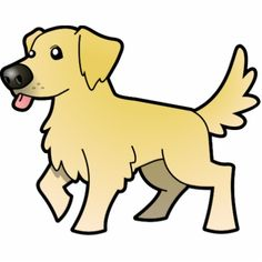 cartoon golden retriever | Cartoon Golden Retriever (cream) Acrylic Cut Outs