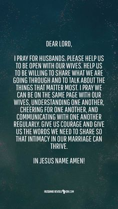 Marriage Prayer: Openness With Our Wives