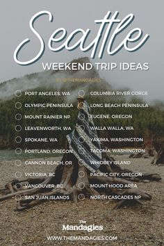 Looking for an escape from the city but don't want to travel too far? Book a Seattle weekend getaway! Here, we're sharing 10+ weekend trips from Seattle packed with adventure, rest, relaxation, and beautiful outdoor adventures. Save this post for your next trip planning in Washington state! #seattle #washington #weekendtrip #weekendgetaway #pacificnorthwest #PNW