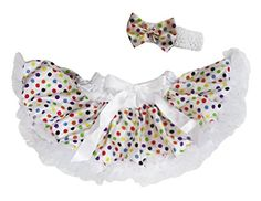 Halloween Dress White Rainbow Polka Dots Skirt Baby Costume Set 312m -- Amazon most trusted e-retailer  #BabyCostumes Baby Skirt, White Rainbow, Halloween Dress, Baby Costumes, Skort, Polka Dots, White Dress, Amazon, Stuff To Buy