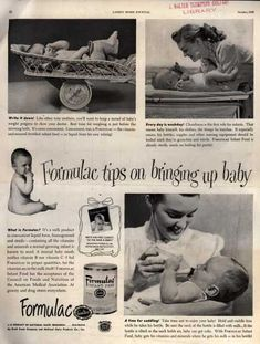 National Dairy Research's Formulac Infant Food – Formulac tips on bringing up baby (1948)