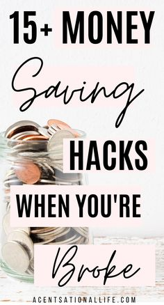 Money Saving Hacks To Save Money When You Are Broke! Life Hacks To Help You Save Money On Bills, Food, Entertainment!