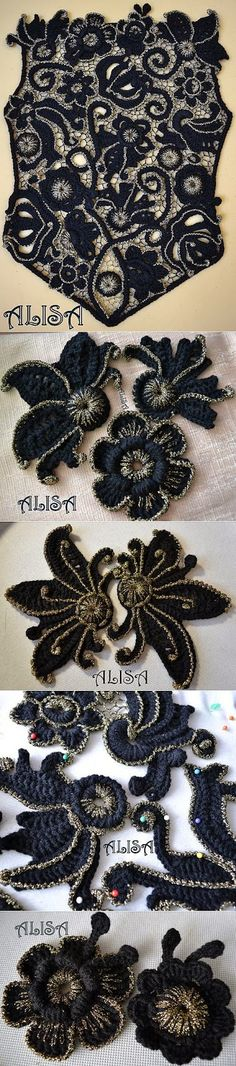 Letras e Artes da Lalá: Crochê Irlandês/Irish Lace (by pinterest, sem receitas) ...crochet inspiration ONLY...