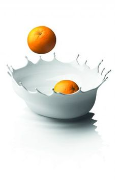 This bowl is so cool!!    Menu Dropp Fruit Bowl White  from Bristol & Brooks - $89.95