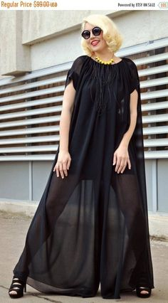 SALE 40% OFF Extravagant Black Jumpsuit Loose Jumpsuit with https://www.etsy.com/listing/276346032/sale-40-off-extravagant-black-jumpsuit?utm_campaign=crowdfire&utm_content=crowdfire&utm_medium=social&utm_source=pinterest