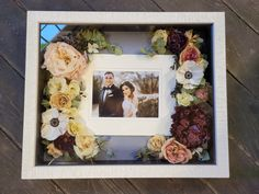 This gorgeous couple are framed beautifully with their wedding flowers. A one of a kind, forever keepsake. #floralpreservation #floraldesign #floralart #weddingflowers #bridalbouquet #weddingbouquet #bouquetrecreation #leighflorist #pinkpeony #peonies Wedding Centerpieces, Wedding Bouquets, Floral Wedding, Wedding Flowers, Custom Shadow Box, Flowers Delivered, How To Preserve Flowers, Wedding Frames, Pink Peonies