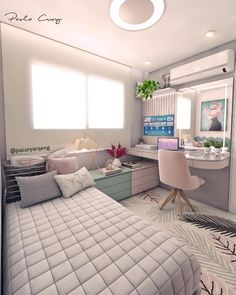 Cute Teen Bedroom Designs Ideas is part of Room decor - If you are on a budget then finding great teen bedroom designs in your price range might be a bit […] Cute Bedroom Ideas, Girl Bedroom Decor, Dream Rooms, Bedroom Decor, Small Room Bedroom, Bedroom Renovation, Simple Bedroom, Small Bedroom, Home Decor