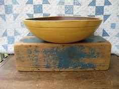 Yellow bowl, worn blue box        ****