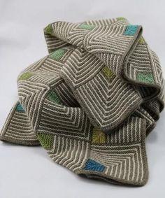 Et strikket babytæppe