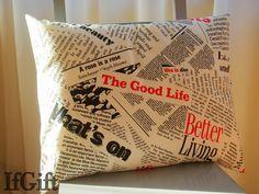 duża poduszka w gazety w IfGift na DaWanda.com
