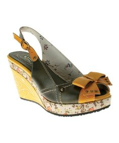 Take a look at this Olive Leather Advance Sandal by Spring Step on #zulily today!