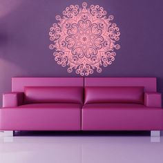 Mandala Wall Decals Flower Indian Pattern di WallDecalswithLove