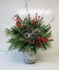 Christmas floral association for desk and out of doors ornament – The Best DIY Outdoor Christmas Decor Christmas Planters, Christmas Greenery, Christmas Flowers, Outdoor Christmas, Rustic Christmas, Christmas Holidays, Christmas Wreaths, White Christmas, Christmas Candles