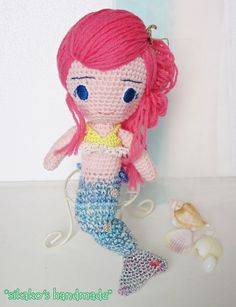 鹿子オリジナルのヒトガタあみぐるみ、[Pretty girl]#人魚姫versionです。人魚姫。 それは、切なく哀しいお話の中であると同時に、 姫の王子様へ... ハンドメイド、手作り、手仕事品の通販・販売・購入ならCreema。