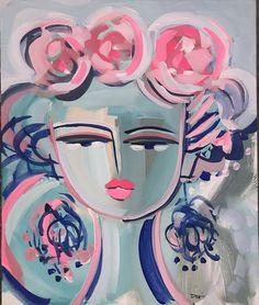 Mixed Media Faces, Original Paintings, Original Art, Warrior Girl, Muted Colors, Disney Characters, Fictional Characters, Art Gallery, Tropical