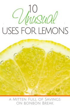 10 Unusual Uses for Lemons