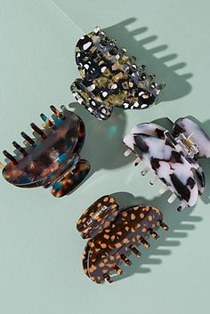 Slide View: Pack of Four Tortoiseshell Hair Clips Hair Accessories Uk, Other Accessories, Tortoise Shell Hair, Best Skincare Products, Hair Claw, Grunge Hair, Cute Jewelry, Hair Ties, Fashion Jewelry