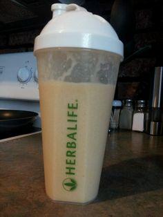 Orange cream & Pineapple Herbalife shake. 2 scoops F. Vanilla shake mix, 8 oz almond milk (vanilla), 5-7 oz. Ice, 1/2 teaspoon orange sugar free jello, handful frozen pineapple. Put in blender, turn on and voila! <3 S.J. <3