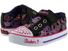 SKECHERS KIDS Twinkle Toes - S Lights - Shuffles - Jazzy Girl 10198N (Infant/Toddler)