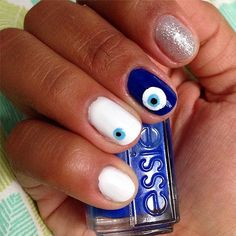Evil Eye Nail Art Id
